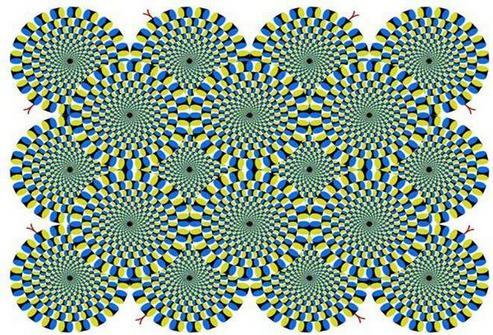 目の錯覚で円がまわる画像その2