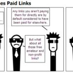 【4コマ漫画】Googleはどのように有料リンクであると確定しているのか
