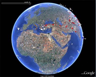 地震のないところも多い地球