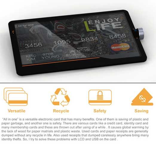 LCDディスプレイ付き クレジットカード