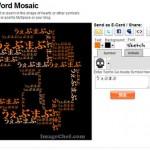 文字でクールなモザイクのシンボルを作成し、画像を埋め込める「Word Mosaic」