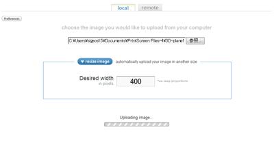 画像アップ時にリサイズするサイズを指定できる