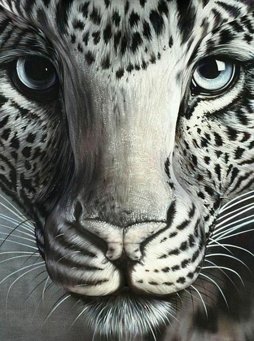 目の錯覚アート「豹」