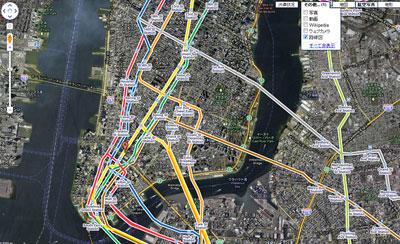 NYC ニューヨークの地下鉄路線図