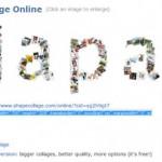 FlickrなどのWEBページから画像を抽出してリンク付きのコラージュを作成できる「Shape Collage Online」