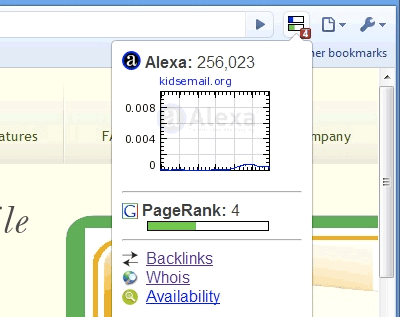ページランクとAlexaランクグラフを表示