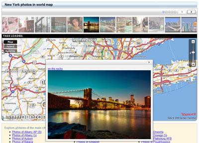 マップ上で画像を拡大表示