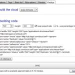 クールすぎるタグクラウドを作成できる「Tagul」サイトへ埋め込み可能