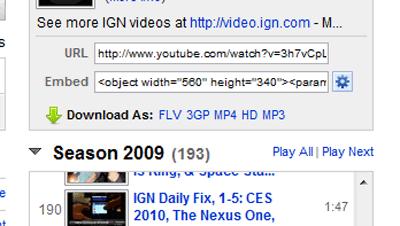 YouTubeのダウンロードボタン
