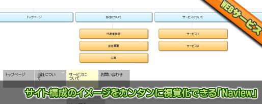 サイト構成のイメージをカンタンに視覚化できる「Naview」