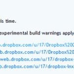 Dropbox(ビルド版)でDropboxフォルダ内の同期するフォルダを選択できるようになった