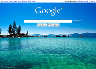 Google.comの背景画像