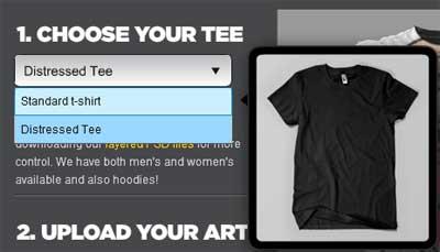 Tシャツのスタイル