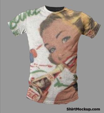 オリジナルTシャツのモックアップ