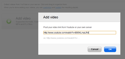 URLで動画をプレイリストに
