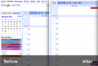 Minimalist for Google Calendar