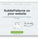 背景パターン画像をサイト上でプレビューできるSubtlePatterns ブックマークレット