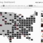 米国で人気のYouTube動画を地図上で視覚化する「YouTube Trends Map」