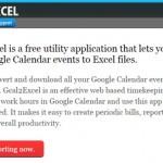 Googleカレンダーの予定をエクセルやCSV形式でエクスポートできる「Gcal2Excel」