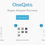 ひとつだけ質問したいときに使いたいアンケートツール「OneQstn」