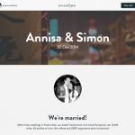結婚式の告知サイトを無料で作れてクラウドファンディング的なこともできる「Envelope Registry」