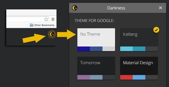 ページの右上に表示されるボタンを押して、テーマを選択
