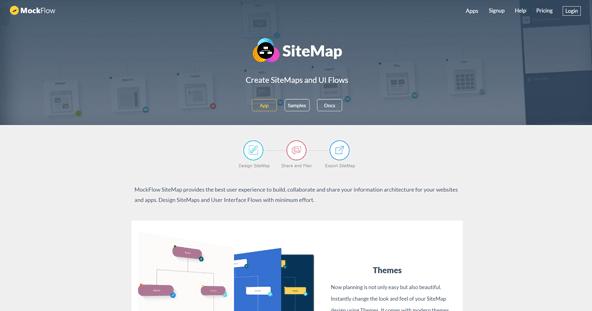 MockFlow SiteMap