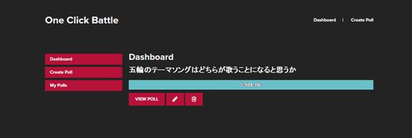 作成したアンケートが一覧されるダッシュボード。