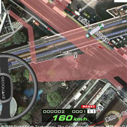 グーグルマップで遊べるドライビングゲーム