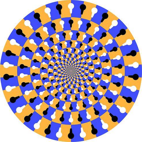目の錯覚で回る画像ラスト
