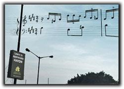 音楽学校のアイデア広告