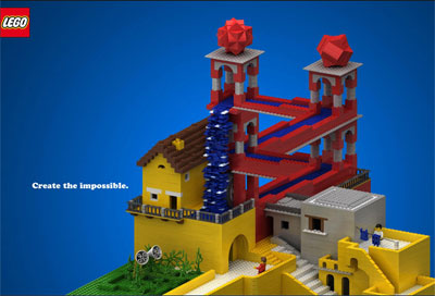 Legoのウォーターフォール