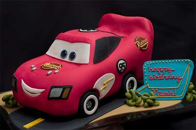 Lightning-McQueen-Cake