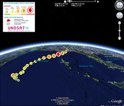 ミャンマーを襲ったサイクロンの軌跡