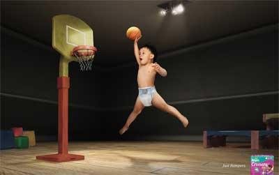 パンパースのバスケ広告