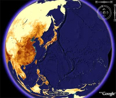 人口密度のマップ