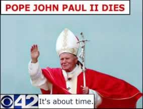 ヨハネ・パウロ2世に対する冒涜