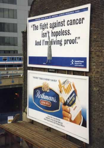 タバコの上にガンの危険性