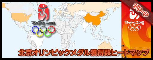 北京オリンピックのメダル獲得数相関図をヒートマップで視覚化