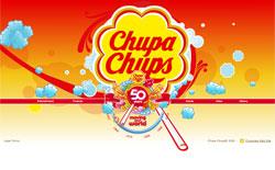チュッパチャップスの50周年記念プロモーションサイト