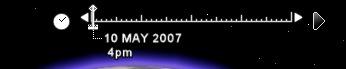 グーグルアース(Google Earth)のスライダを左へ