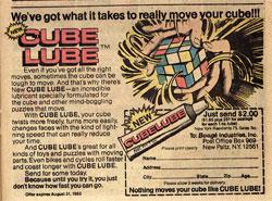 ルービックキューブを使った広告
