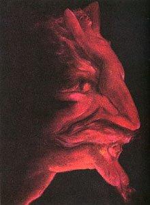 悪魔に見える目の錯覚画像2