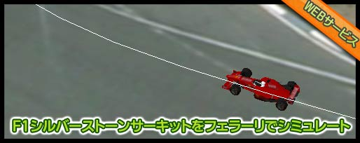 F1シルバーストーンサーキットをフェラーリでシミュレート