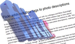 flickrが説明文のリンクにnofollow属性