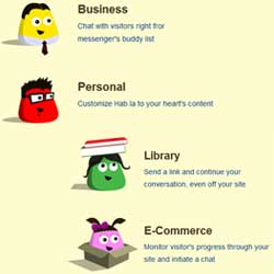 ECサイトやビジネスサイト、ブログなどに適したチャットパーツ
