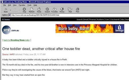 火事で人がなくなっているのにパロってる。