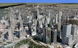 Virtual Earth 3Dでのニューヨーク