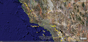 Google Earthグーグルアース、世界の地震情報