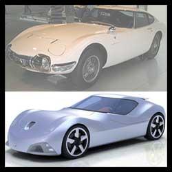 トヨタのコンセプトカー「Toyota 2000 SR」とトヨタ2000GT